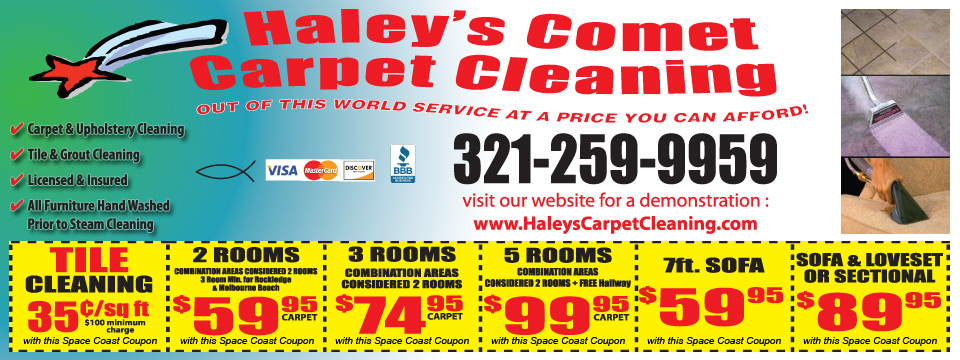 Space Coast Coupons Online Coupons Haley S Comet