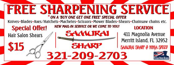 Samurai Sharp Coupon
