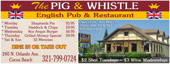 The Pig And Whistle Space Coast Coupon